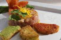 Tartara di salsiccia di Terracina con crostini